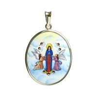 Asunción de María colgante de oro