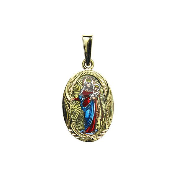 435R Our Lady of Hostyn medallion