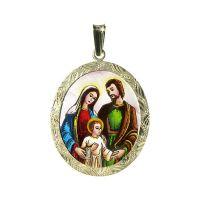 Medalla de Sagrada Familia colgante más grande