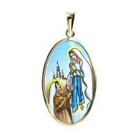 Medalla de Nuestra Señora de Lourdes más grande