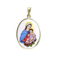 Medalla de Santísima Virgen y el Niño grande