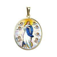 Medallón de la Asunción de la Virgen María con ángeles