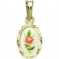 Rosa roja miniatura medallón