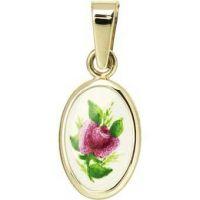 Medalla miniatura de rosa púrpura