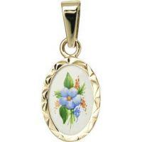 Mmedallón de Motivos florales miniatura